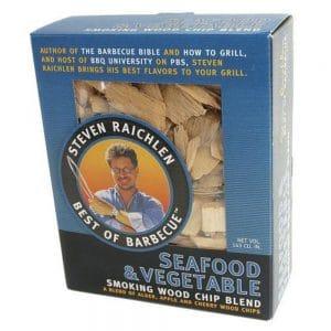 Steven Raichlen wood chips seafood vegetable
