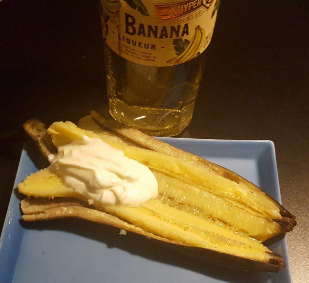Banaan op de Primo met banana likeur en cheesecakeroom